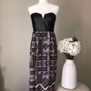 🌷3/$20! ~ Ladakh leather bodice maxi dress
